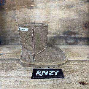 BearPaw Brown Fleece Lined Zip Toddler Boots